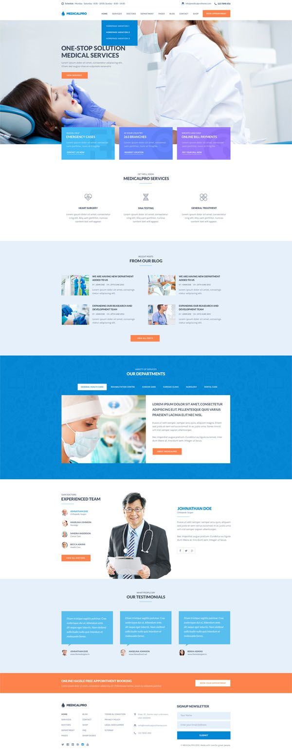 MedicalPRO - Health and Medical HTML Template