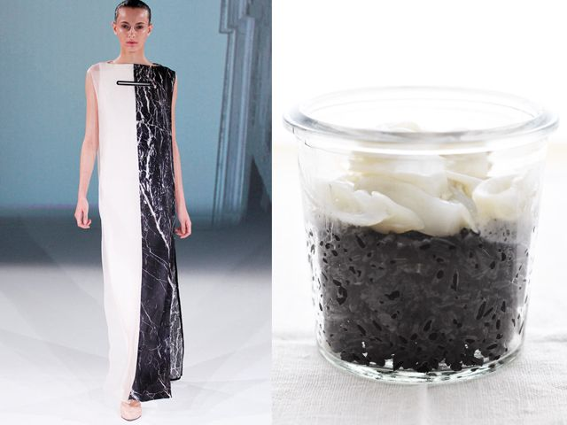 Chalayan ss 2013 / Quick risotto with squid