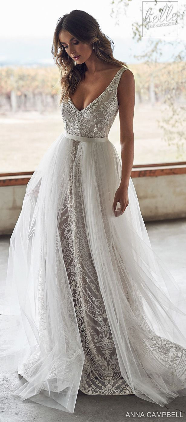 Anna Campbell 2020 Belle The Magazine In 2020 Sheath Wedding Dress Lace Wedding Dresses Unique Wedding Dresses Satin