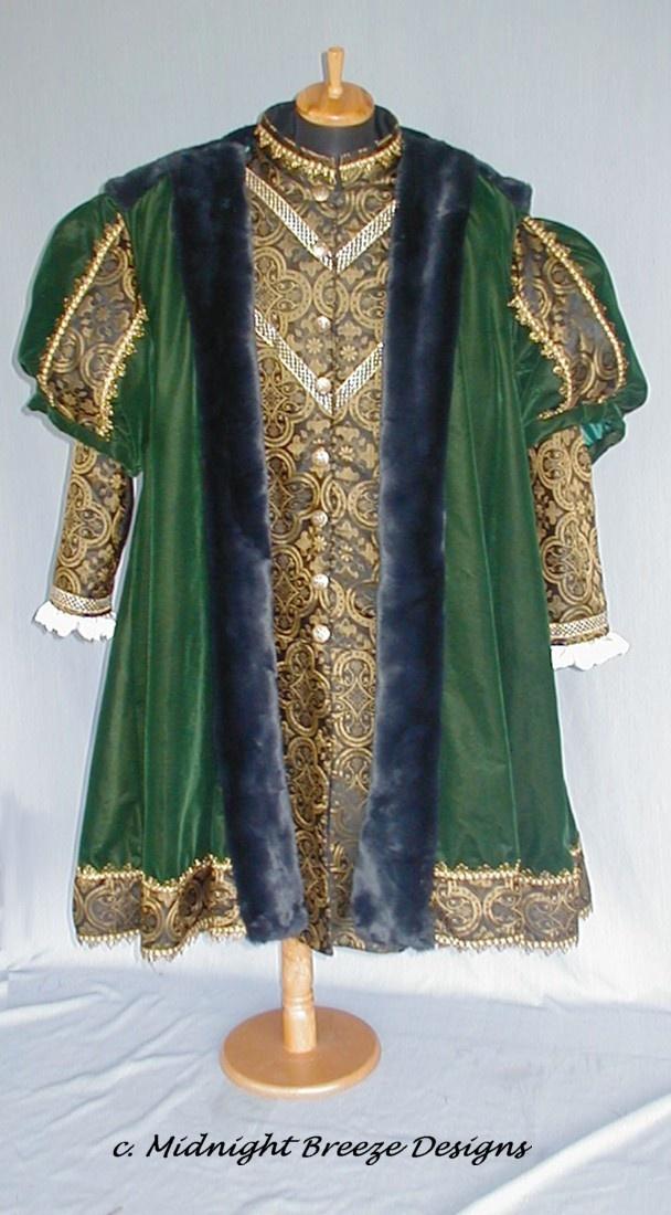 tudor fashion |  Mens Renaissance Tudor Henry VIII Costume - 4 Pieces