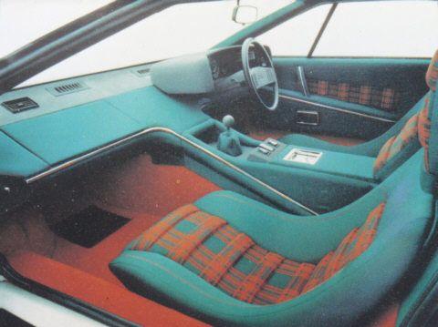 Interior of Lotus Esprit S1