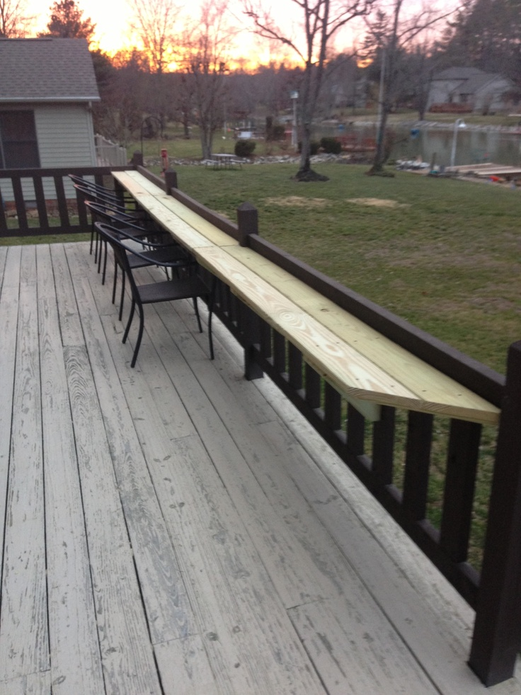 Narrow Deck Table Back Yard Deck Landscaping