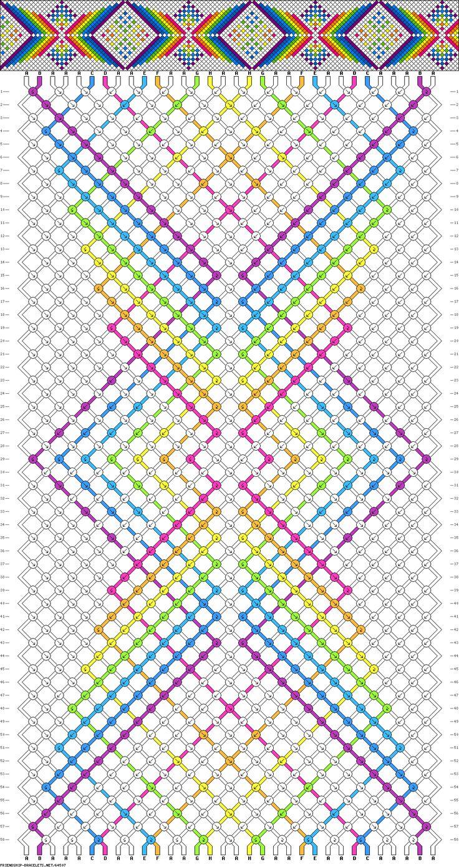 Muster # 64507 (?), Streicher: 32 Zeilen: 58 Farben: 8