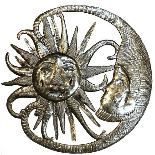 Sun/Moon Metal Drum Art