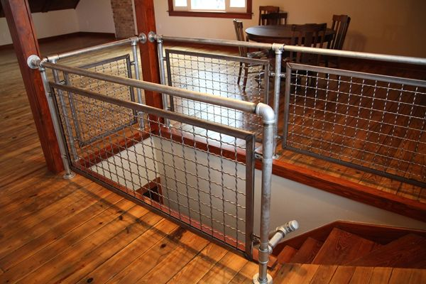 17 Images About Woven Wire Metal Railing Examples On