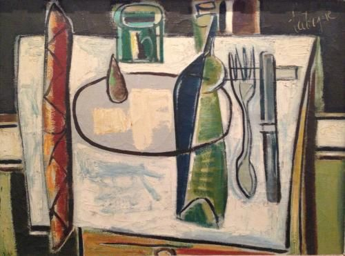 Louis Robert Arthur Latapie (1891-1972), Nature Morte Avec Baguette, 1947, Oil, 86x67 cm
