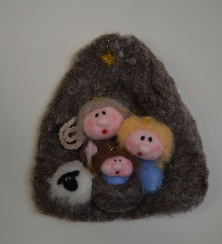 Needle felt Nativity to hang on your wall by TheFeltDrawer on Etsy