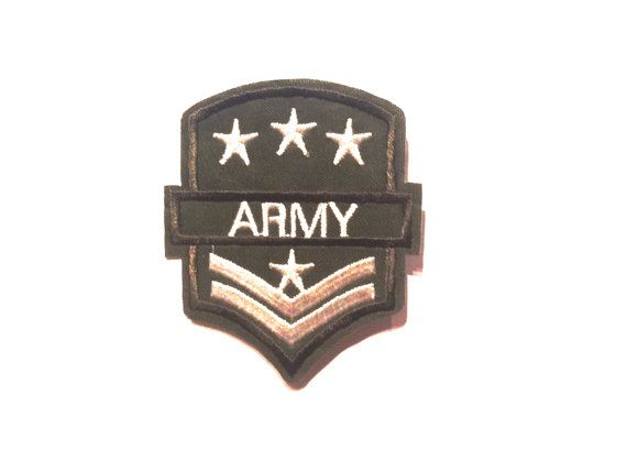 ARMY militar #parche color stylo embroidered iron parche por YBatchi