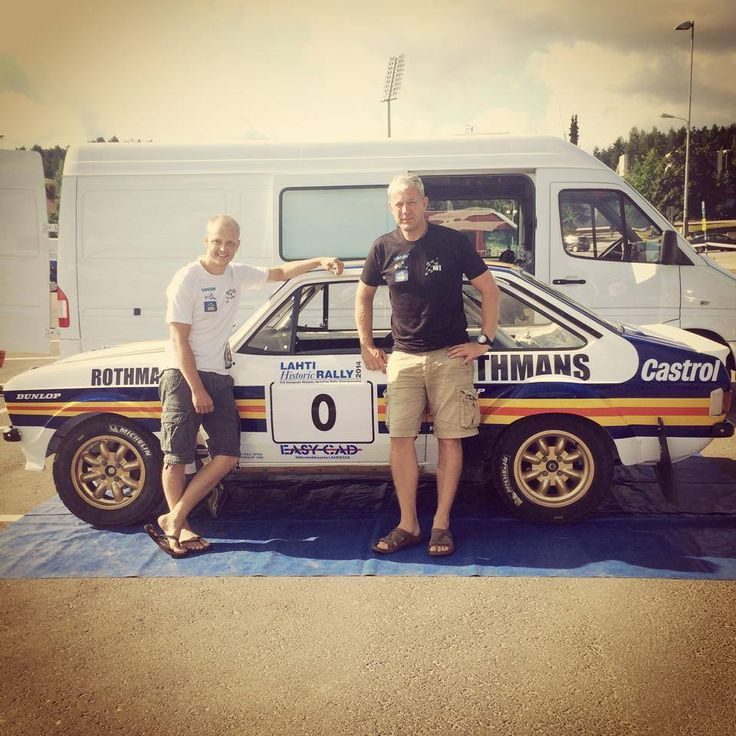 Happy boys ready for Lahti Historic Rally !