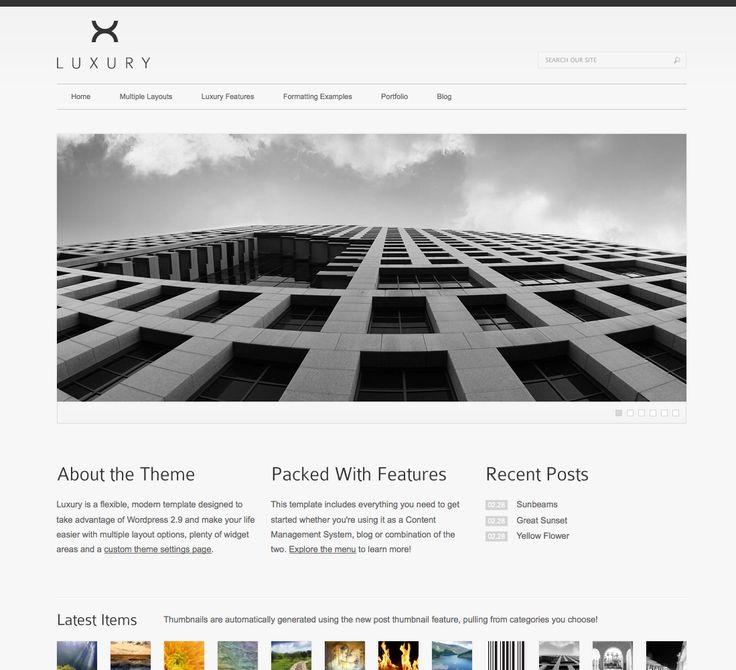 41 best Minimalist WordPress images on Pinterest   Website designs ...