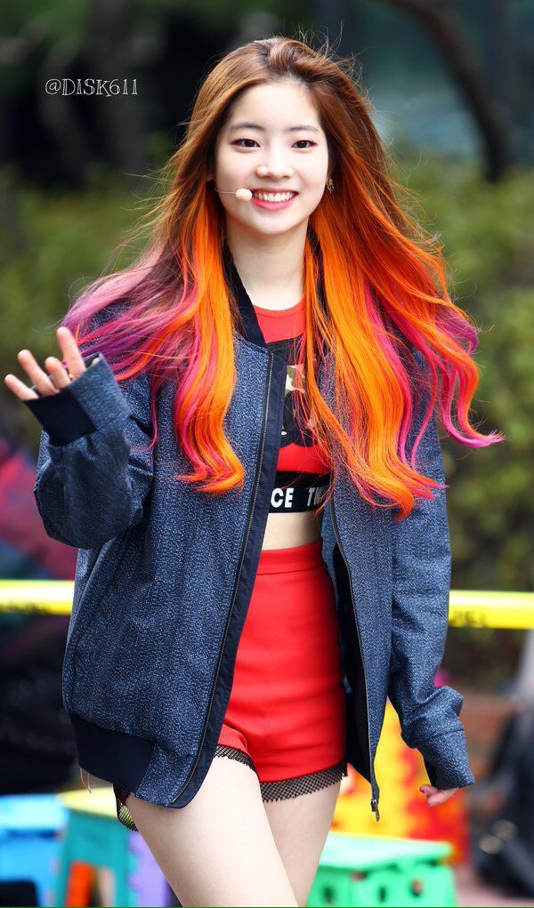 Dahyun - her hair is so vibrant!