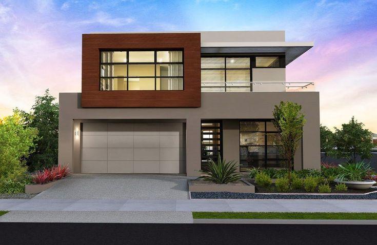 Fachadas de casas bonitas de diferentes tipos y tendencias: un y dos pisos, contemporáneas, minimalistas, modernas, rústicas, de campo, de d... #casasminimalistasdeunpiso
