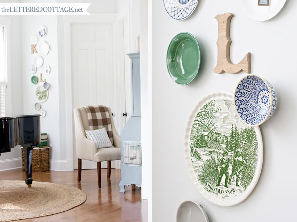 Always a treat to see what Layla's up to... Decorating With Plates | The Lettered Cottage