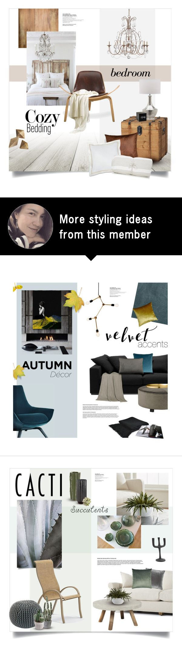 """""""Cozy Bedroom"""" by magdafunk on Polyvore featuring interior, interiors, interior design, home, home decor, interior decorating, Burke Decor, Currey & Company, Hedgehouse and CB2"""