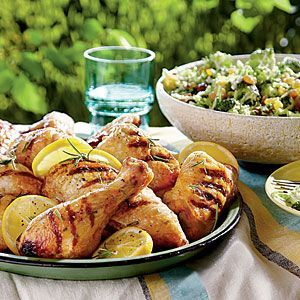 Buttermilk-Brined Grilled Chicken | MyRecipes.com From Southern Living....awesome recipe! I cook in oven at 350 for 40-50 minutes until cooked to temp and then finish under broiler for a minute or so to brown skin. We use breasts only. Great leftovers.