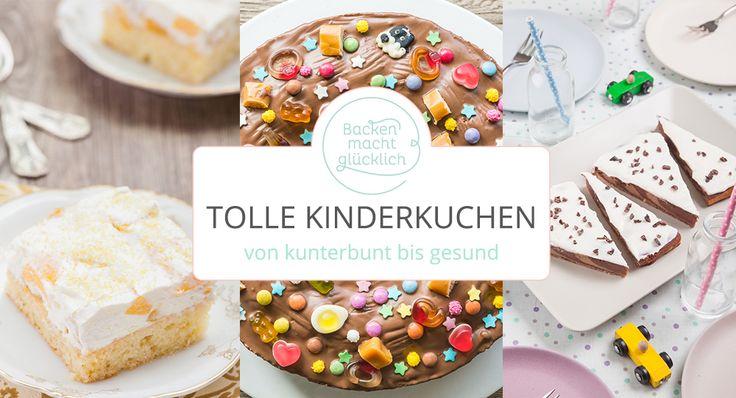 Von kunterbunt bis gesund, von Fantakuchen über Bananenbrot bis Regenbogentorte: Diese 10 Kuchen sind der Hit bei jedem Kindergeburtstag!