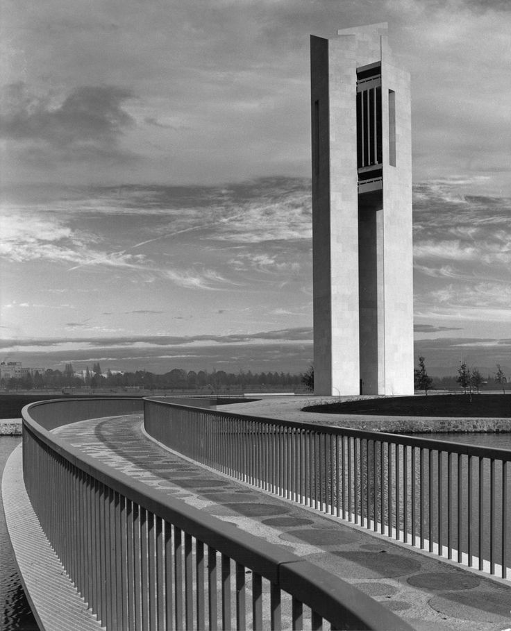 National Carillon, Canberra. Photo by Max Dupain, 1970