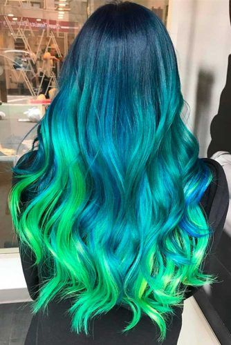 Blue Green Ombre