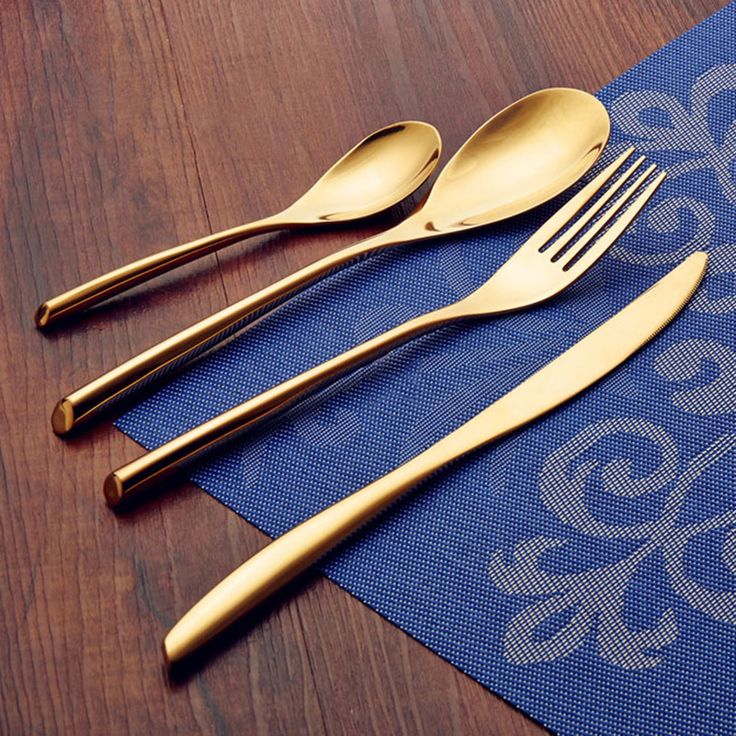 Find More Dinnerware Sets Information about JK HOME 24K Gold 4Pcs/Set Flatware Stainless Steel Tableware Cutlery Set Dinner Knife Fork Spoon Tableware Dinnerware Set For 6,High Quality spoon holder,China sets Suppliers, Cheap set golf from JK Mall on Aliexpress.com