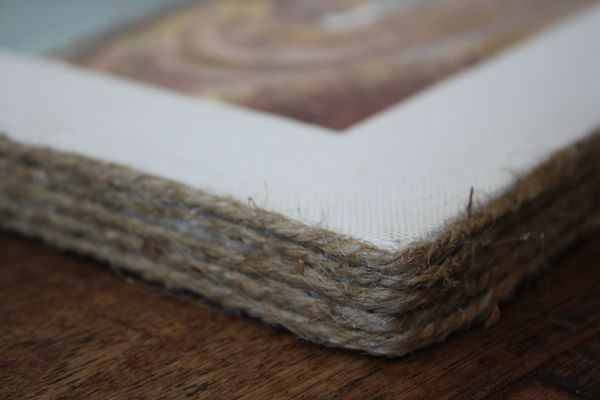 Rope Framed Canvas: would be perfect for your wedding canvas Megan!