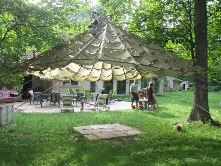details about us parachute party tent garden canopy sun