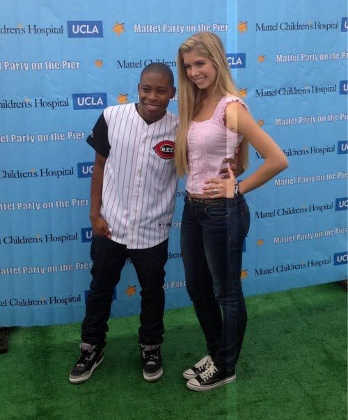 """""""A.N.T. Farm"""" Stars, Allie DeBerry And Carlon Jeffery, At The Mattel Party On The Pier"""