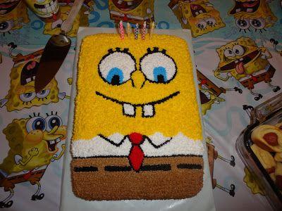 Lidia's 5th birthday cake.  Sponge Bob Square Pants.