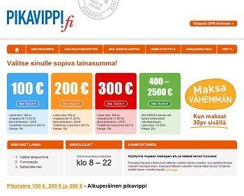 Pikavippi 100 - 300 € | VertaaLainaa.fi