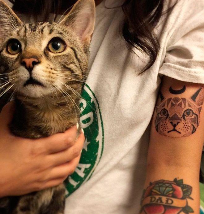 50 Ideias de tatuagem para amantes de gatos