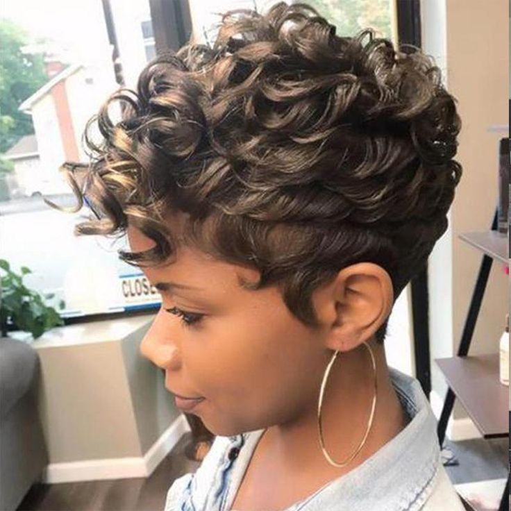 Fina 024 Gorgeous Short Curly Tapered African American Wig