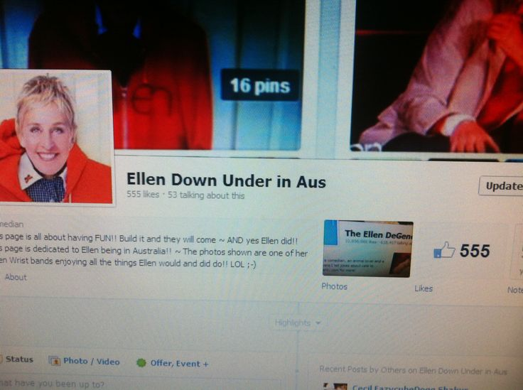 Wow thank you everyone!! My Facebook page Ellen Down Under in Aus is at 555 likes!!