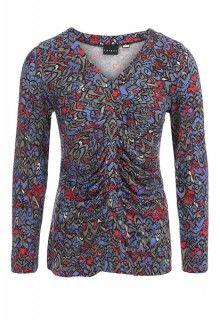 V-Neck Pleated Top (Blue Ribbon) #tribalsportswear #fall2014 #fallfashion #fallstyle