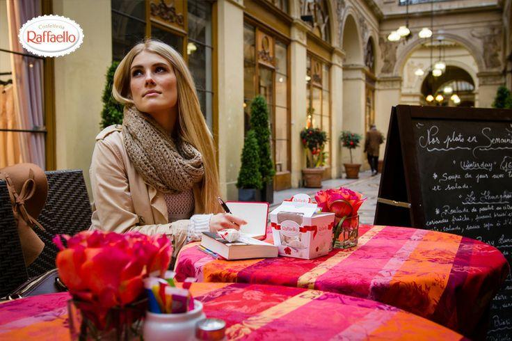 #Kawiarnia #Raffaello #Przerwa #Paryż #Relaks #Konkurs Raffaello wywołuje uśmiech. Raffaello smakuje. Raffaello nie pyta. Raffaello wszystko rozumie dlatego jest/będzie najlepszym przyjacielem podczas podróży!