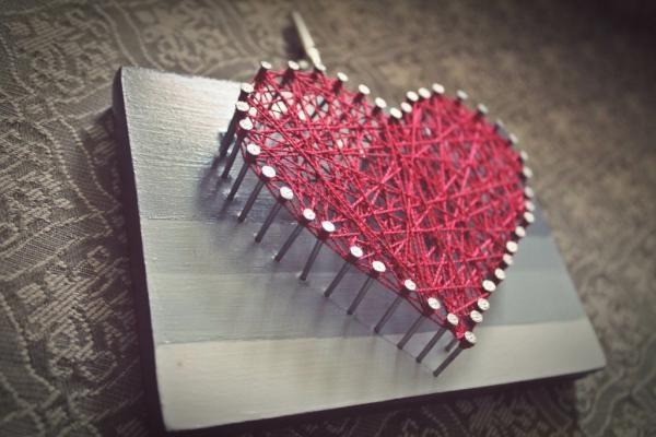 Portaretrato <3 heart DIY