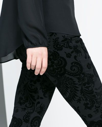Image 5 of FLOCK PRINT TROUSERS from Zara