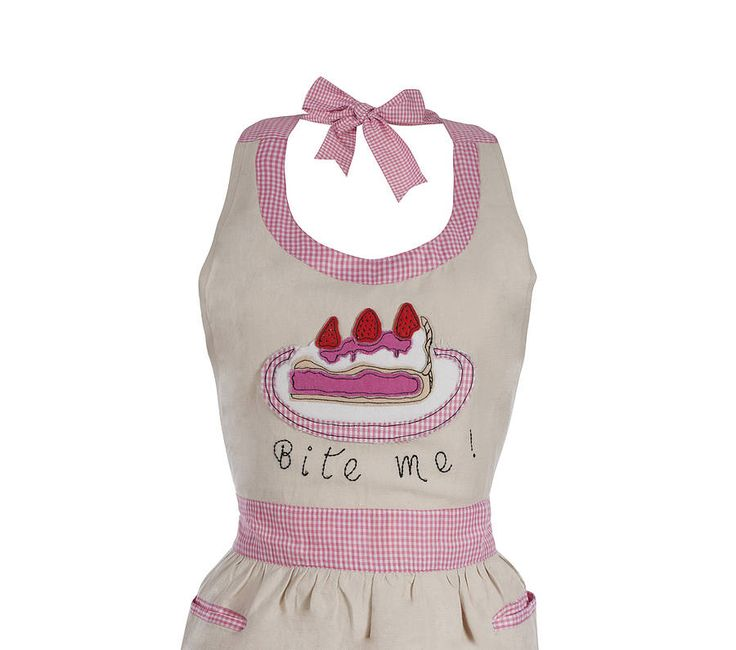 Appliqued 'Bite Me' Apron from notonthehighstreet.com