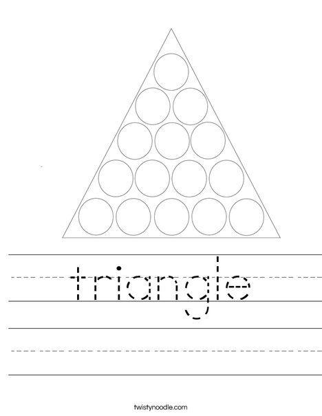 triangle Worksheet - Twisty Noodle | Triangle worksheet ...