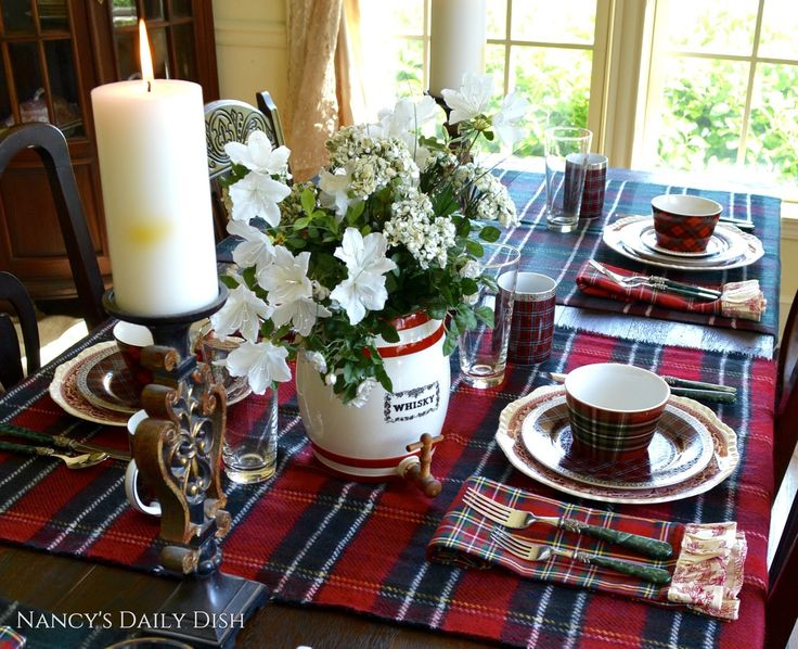 April 6th is National Tartan Day so today I'm sharing my tartan tablescape (with a bit of French toile and English transferware thr...