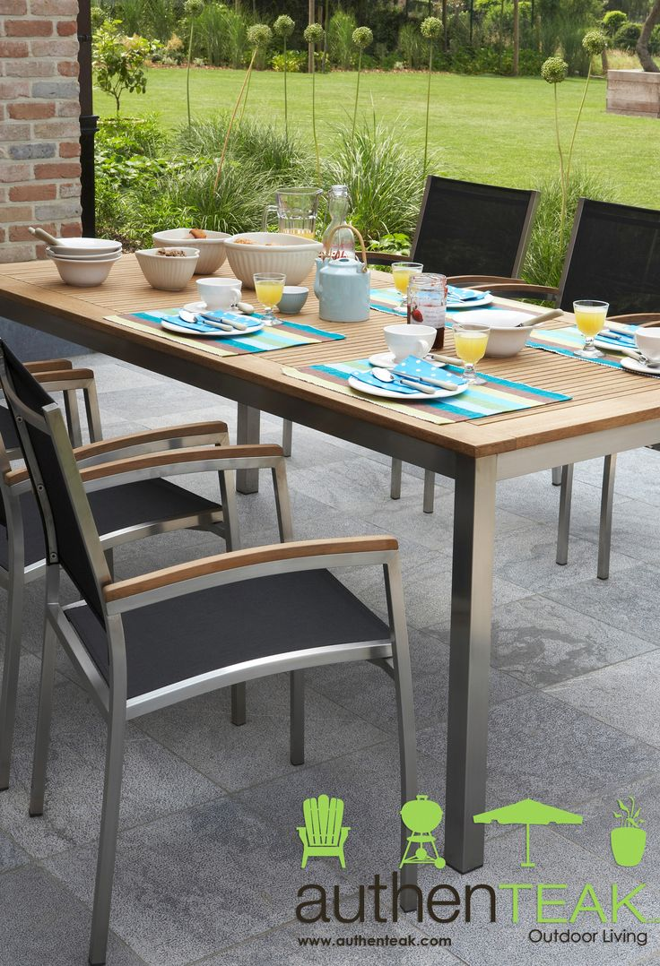 Authenteaku0027s Stainless Collection Features Dining Chairs, Lounge Chairs,  Tables, Modular Sectionals And Chaise