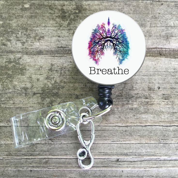 Lungs Breathe respiratory badge reel button, breathe badge reel, RRT CRT lanyard by BearyAwesome on Etsy https://www.etsy.com/listing/267171295/lungs-breathe-respiratory-badge-reel