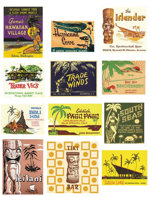 vintage hawaiian labels... to use to make something for favors?