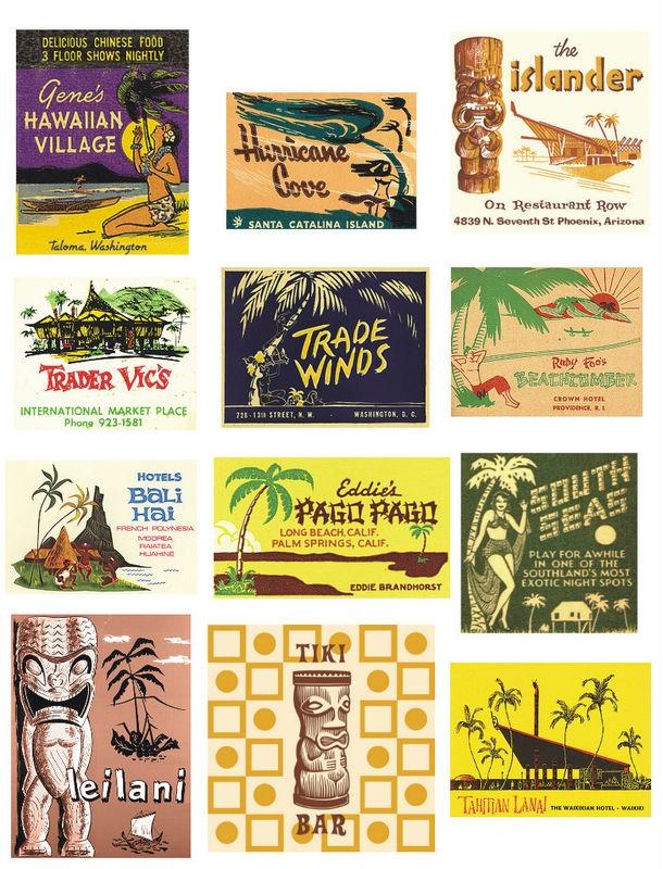 vintage hawaiian labels
