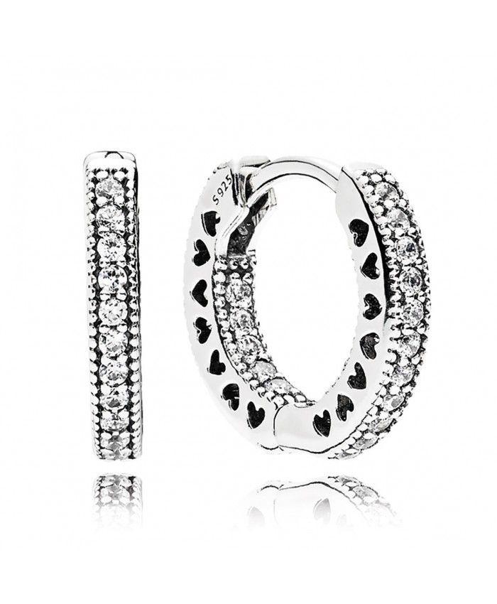 bcdc69050 Hearts of PANDORA 15MM Hoop Earrings | pandora earrings | Pandora ...