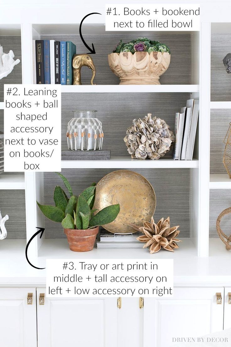 How To Decorate Shelves Bookcases Simple Formulas That Work