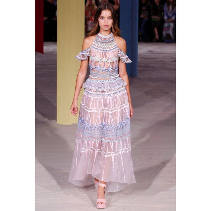 Temperley London. #pastel #dress #fashion #VogueRussia #readytowear #rtw #springsummer2017 #TemperleyLondon #VogueCollections