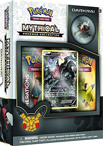 Now Darkrai Is at Your Command! Rare and mysterious, Mythical Pokemon arrive when they choose-and disappear just as quickly! Step forward into a new level of play with the Pokemon TCG: Mythical Pokemon Collection-Darkrai!.The Pokemon TCG: Mythical Pokemon Collection-Darkrai includes a never-before-seen foil promo card featuring Darkrai and a Darkrai collector's pinIt also comes with …