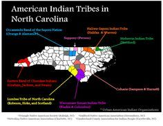 Map of NC American Indian Tribes. If I wasn't so pale, you could tell that I' Cherokee