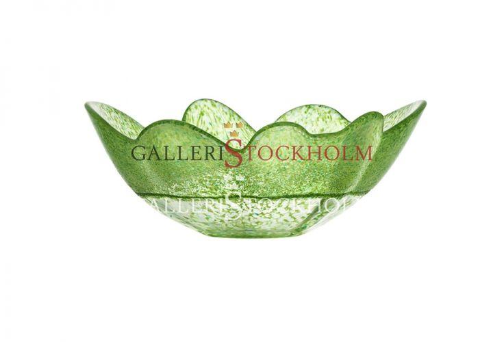 Anna Ehrner - Glaskonst - Organix Skål Vårgrön Kosta Boda Beställ här! Klicka på bilden.