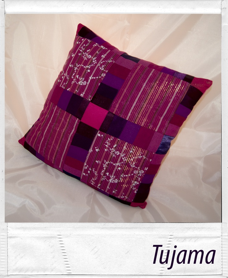 Pink-violet pillow made by myself :) Another patchwork