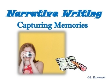 Students will produce meaningful narratives from personal memories by creating life maps, narrowing topics, reading their works aloud, doing peer workshopping, and final copies. The fourteen slide PowerPoint is self-explanatory, includes interactive pre-write, collaborative workshopping, and student example as well as a link to read the online book Gordon Wilfred McDonald Partridge by by Mem Fox (read by Screen Actors Guild). Engaging and fun lesson!$2.00 Grades 3+
